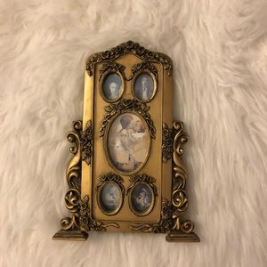 "Gold ornate picture frame 9"" x 5.5"" easel back"
